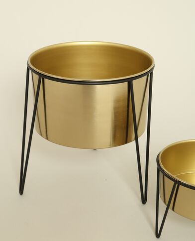 Grote vaas op pootjes goudkleurig