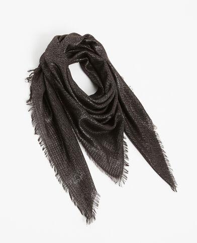 Foulard van lurex grijs