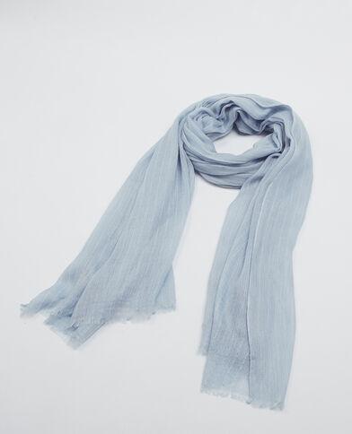 Dunne sjaal met strepen. hemelsblauw