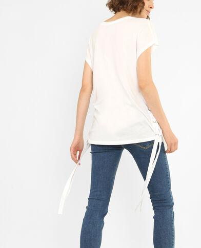 T-shirt à lacets écru