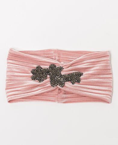 Hoofdband met sieraad Roze