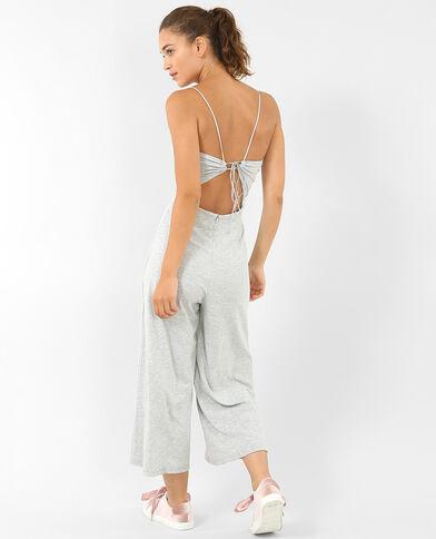 Combinaison jupe-culotte gris chiné