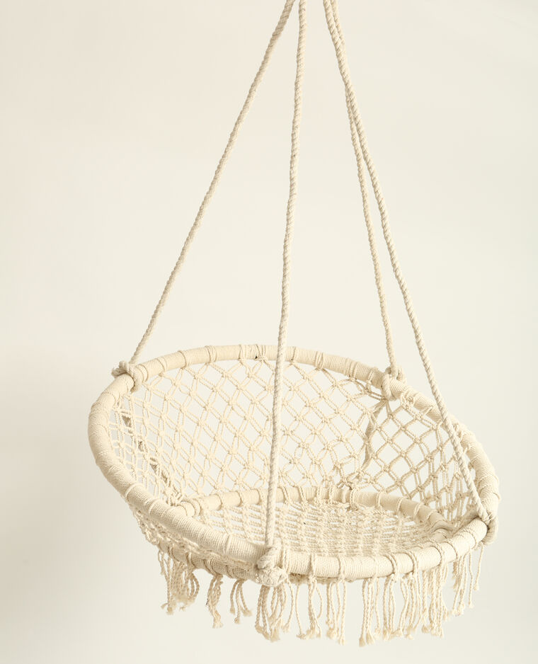 fauteuil en macram suspendre cru 30 907779901a09 pimkie. Black Bedroom Furniture Sets. Home Design Ideas