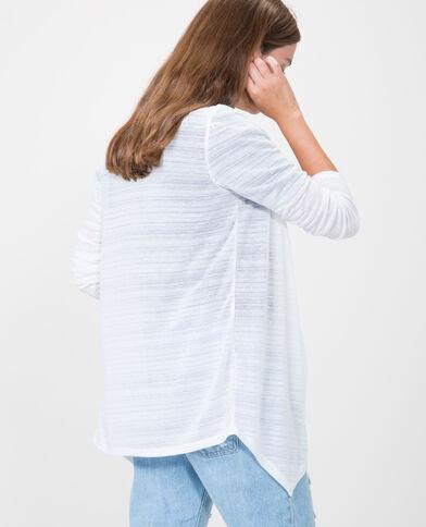 Vest met panden wit