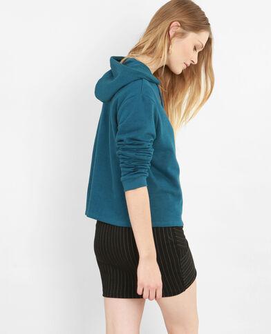 Korte sweater eendenblauw