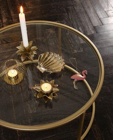 Bougeoir boule en métal doré