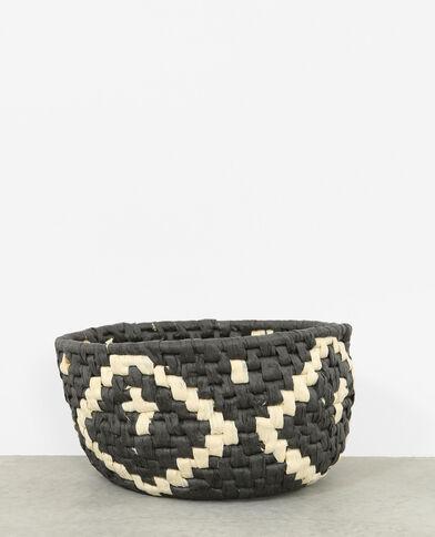 Mandje van touw zwart