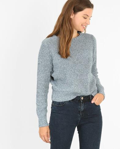 Trui van dik tricot blauw