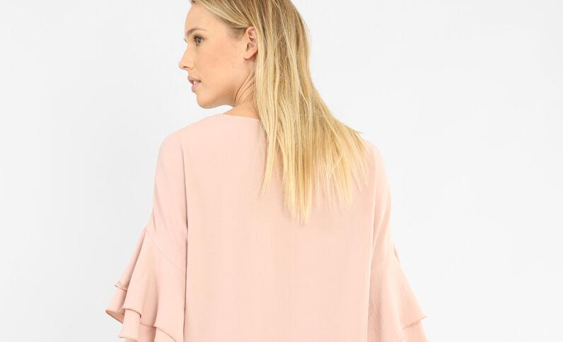Blouse met sieraden roze