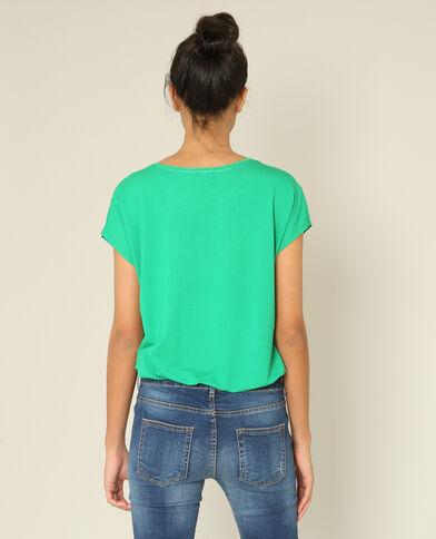 T-shirt bimatière vert