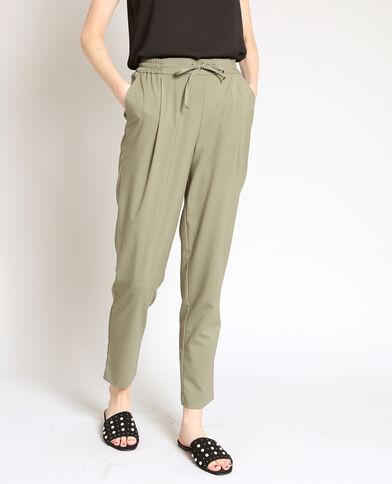 Pantalon carotte vert