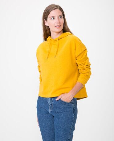 Korte sweater geel