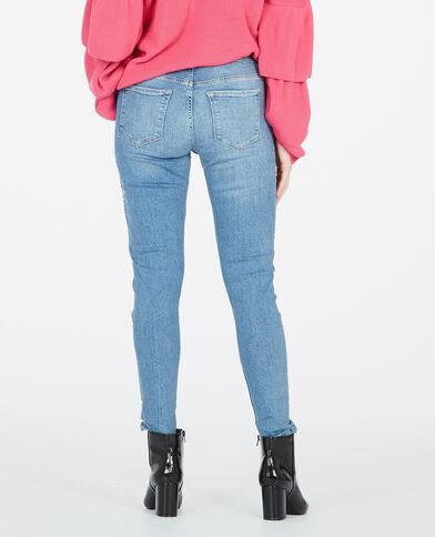 Geborduurde skinny jeans blauw