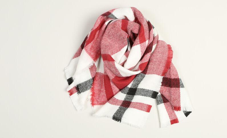 Geruite sjaal rood