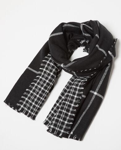 Omkeerbare sjaal zwart