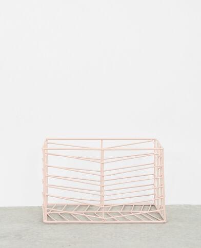 Kleine mand van metaaldraad roze