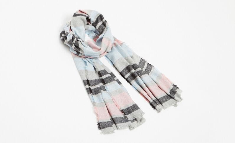 Gestreepte sjaal grijs