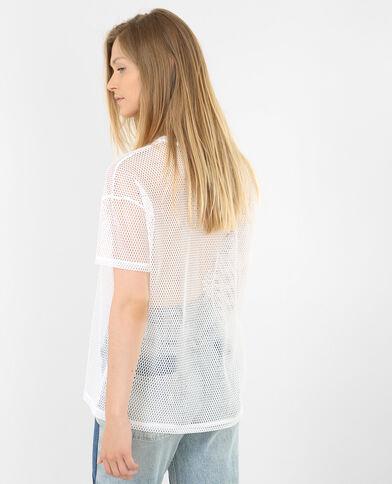 T-shirt de sport filet blanc