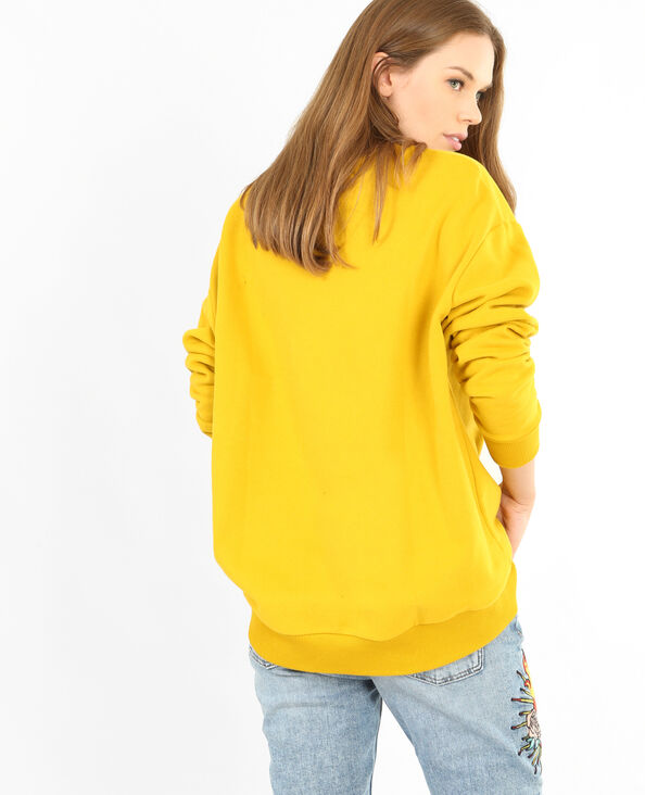 Sweat basique jaune