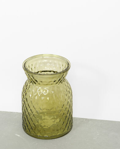Vaas van gekleurd glas groen