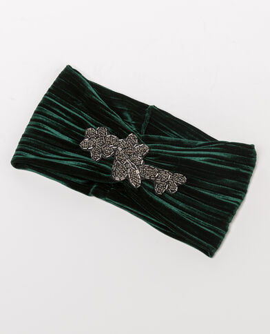 Headband bijou vert