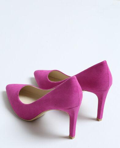 Puntvormige pumps violet
