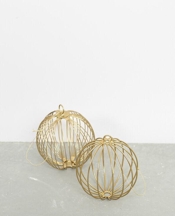 Boules de Noël en métal doré