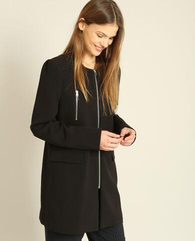 Manteau à zips noir