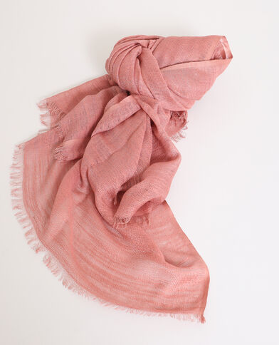 Lichte foulard poederroze