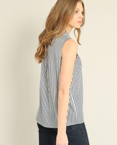 Hemd zonder mouwen zwart