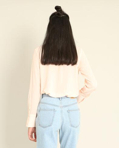 Soepelvallend hemd roze