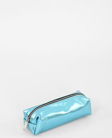 Metallic tasje zeeblauw