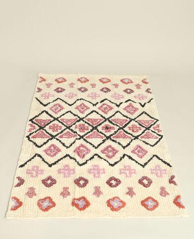 Rechthoekig tapijt met motieven ecru