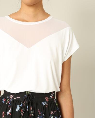 T-shirt bimatière blanc
