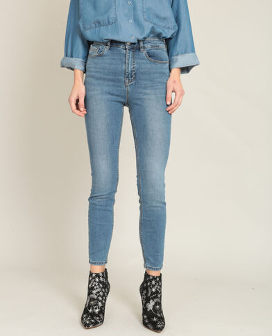Skinny taille haute bleu denim
