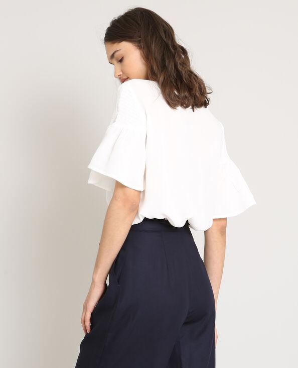 Soepele blouse gebroken wit