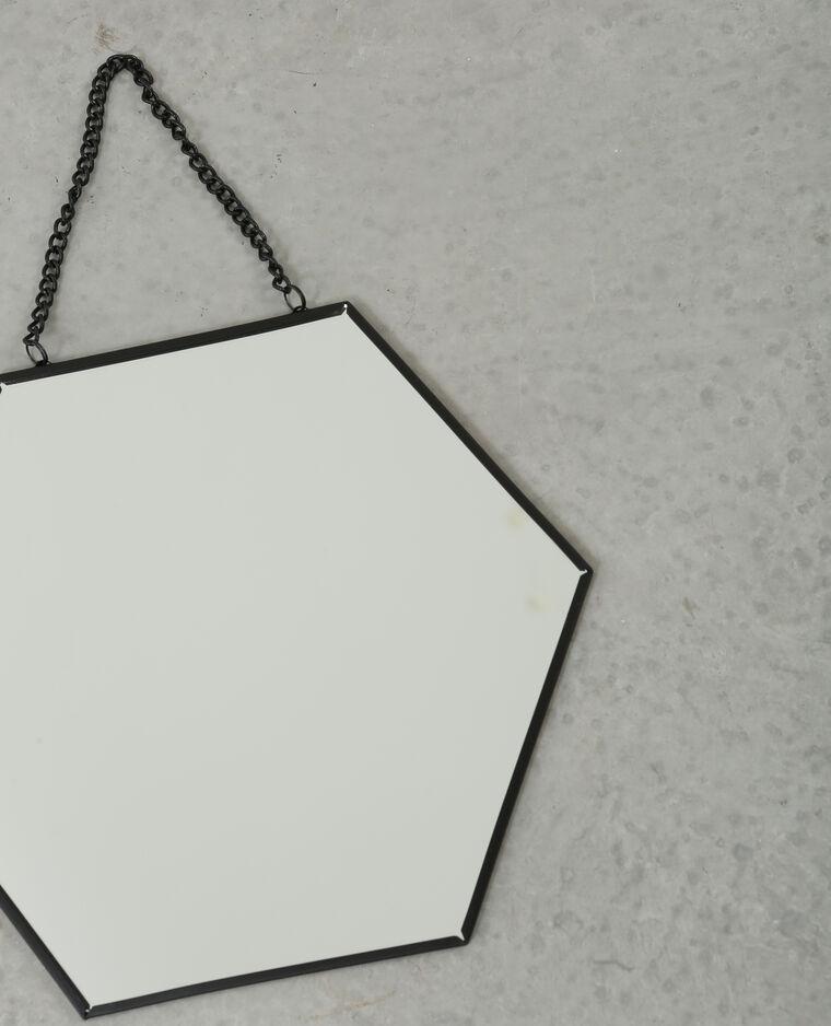 Petit miroir hexagonal noir 975083899a4g pimkie for Petit miroir