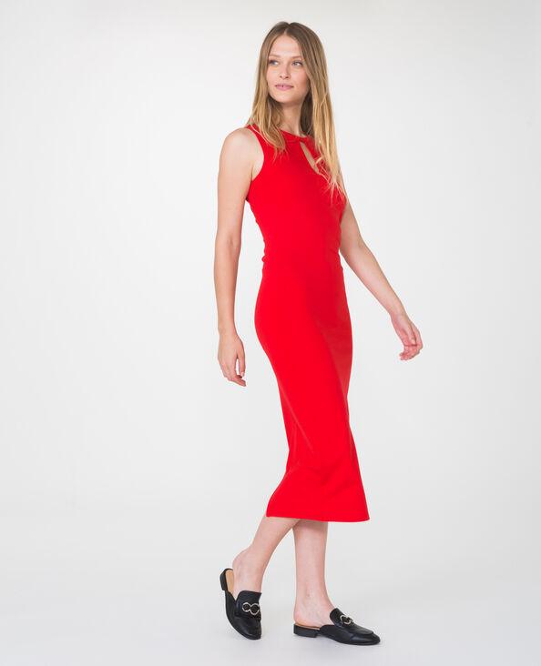 Lange jurk Rood