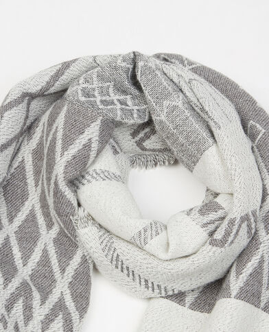 Geweven sjaal/plaid grijs