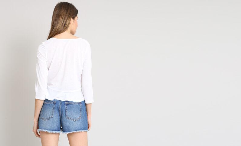 Blouse courte blanc