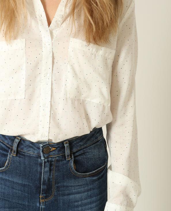 Bedrukt hemd wit