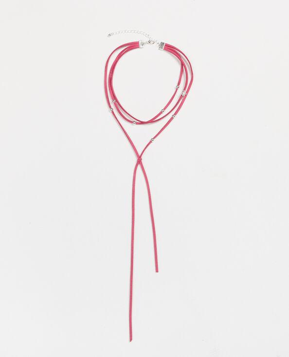 Halssnoer met verschillende kettingen roze