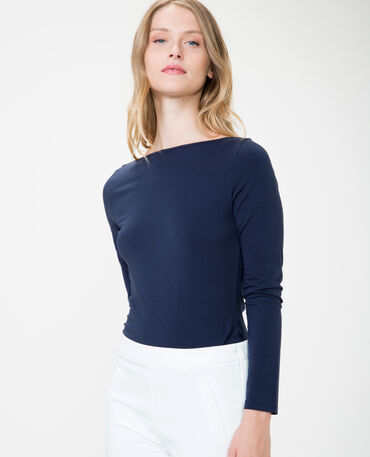 Basic T-shirt marineblauw