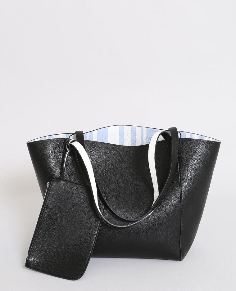 Omkeerbare shopper zwart