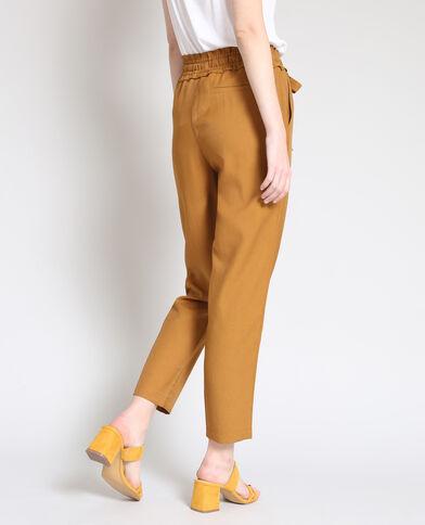 Soepelvallende broek camel
