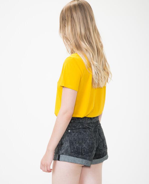 T-Shirt  met V-hals geel