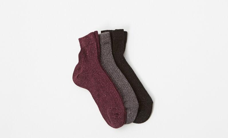 Lot de 3 paires de chaussettes rose