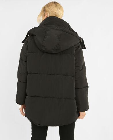 Lange XL-donsjas zwart