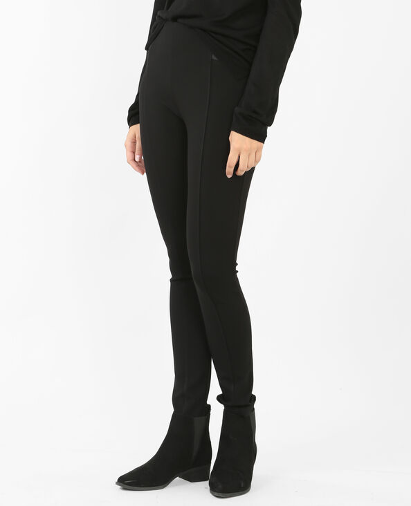 Elastische legging zwart