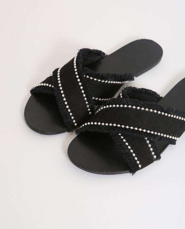 Platte sandalen zwart